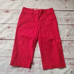 Anthropologie Bows and Arrows Red Capris Size 6